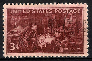 USA. 1947. 3 Cents. The Doctor (Used)