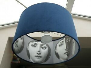 Details About Bespoke Fornasetti Faces And Velvet Lampshades 40 50 Or 70 Cm In Diameter