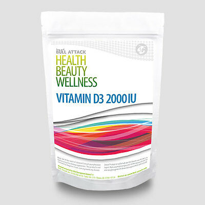 1000 Tabletten Vitamin D 3/D3 á  2000 IU BULK PACK Sonnenschein Vitamin