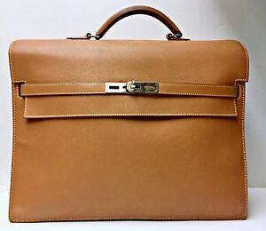 Image is loading Hermes-Kelly-Depeche-38-Briefcase-Document-Holder-Rare- 93c497dffb3dc