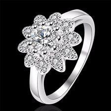 925 Sterling Silber Damen Ring Verlobungsring Ehering Sunflower Ring Gr.18 Neu.