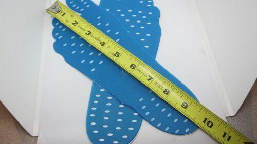 Anti-Slip and Waterproof Unisex Beach Foot Pads Barefoot Foot Stickers L Blue