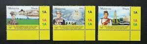 SJ-Golden-Jubilee-Of-Sultan-Negeri-Kedah-Malaysia-2008-Royal-stamp-plate-MNH