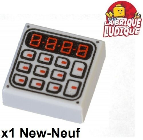 Lego 1x Tile decorated 1x1 Keypad digicode calculette gris 3070bpb089 NEUF