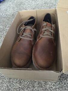 Bailarín amor mantener  Clarks Mens Vargo Plain Oxford Shoes Size 12 Dark Tan Leather   eBay