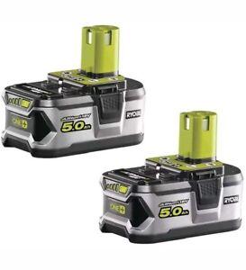 Ryobi-one-rb18l50-bateria-set-2x-18v-5-0-ah-litio-nuevo-en-su-embalaje-original