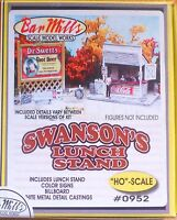 Bar Mills Ho 0952 Swanson's Luch Stand W/billboard (building Kit)