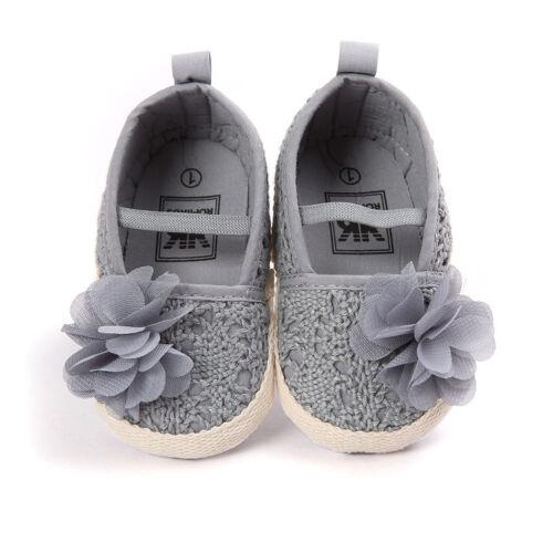 Infant Girl Lovely Soft Sole Shoes Toddler Crib Crochet Slip-on 0-18 Months Size