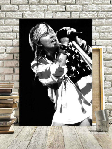 FANTASTIC AXL ROSE GUNS N ROSES CANVAS #7 MUSIC CANVAS PICTURE A1 A3 FREE P/&P