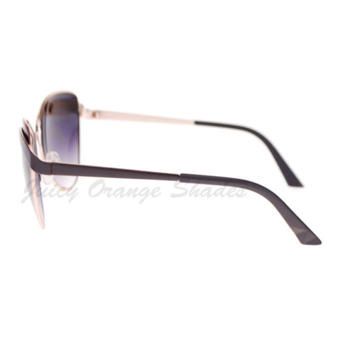 Womens Celebrity Fashion Sunglasses Metal Butterfly Designer Frame