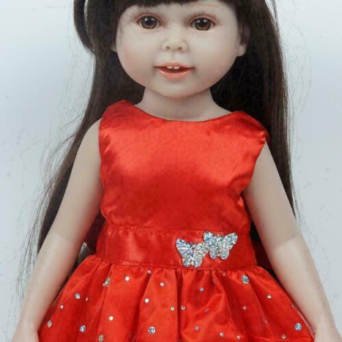 Doll Dress For 18 Inch USA Dolls Red Skirt 18 Inch Girl Clothes M DECO Doll K3J1
