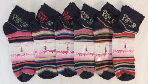 UNHEARDOFDEAL COTTON WOMEN STRIPED FASHION COLOR LOW CUT SOCKS W7001