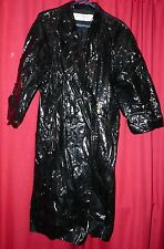 womans Yves st Laurent shiny wet look pvc long raincoat classic Tv sexy