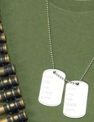 Army Fancy Dress Military Dog Tags /& Chain Soldier Dogtags New by Smiffys