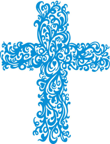 BIG or SMALL CROSS Religious Vinyl Wall Car Decal Sticker Highest Quality