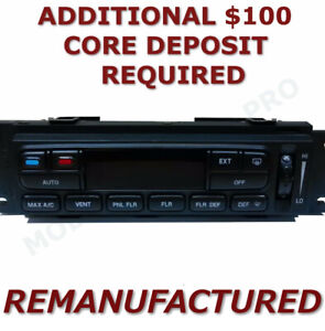 REMAN 02-03 Ford F150 A/C Heater Climate Control WITH REAR DEFROSTER