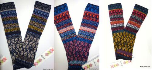 IVKO Armstulpen Handschuhe Pullwarmers James Dean Geometric Pattern 52538