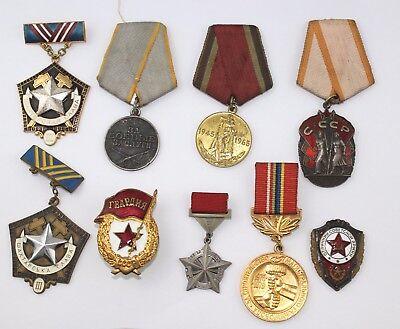 Russian Soviet Medal Order Poster Mедали CCCP плакат