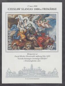 Sweden-Sc-2374-MNH-2000-50kr-Painting-souvenir-sheet-Czeslaw-Slanias-1000th-st