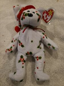 TY Beanie Baby 1998 Holiday Teddy The Bear  - Retired New w Tag Protector Mint