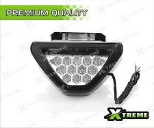 Triangle White 12 LED Brake Light With Flash Mode For All Cars and Bikes
