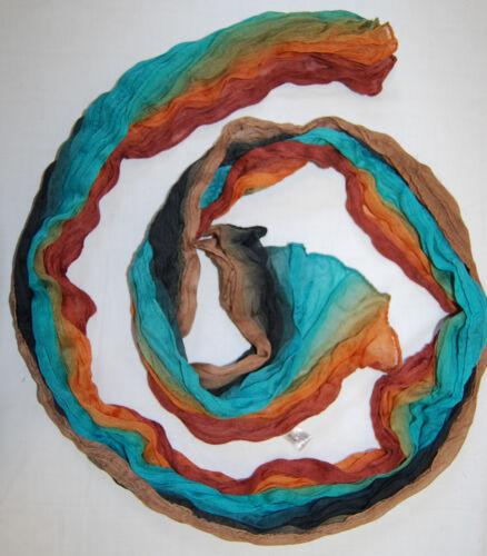 T.M.H Halstuch Tuch Farbverlauf Schal Stola Crinkle 180 cm Etno Hippie EW-372