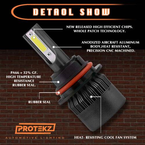 H13 9008 4-Sides LED Headlight kit Hi//Lo Beam for Ford F-150 F-250 F-350 Ptkz