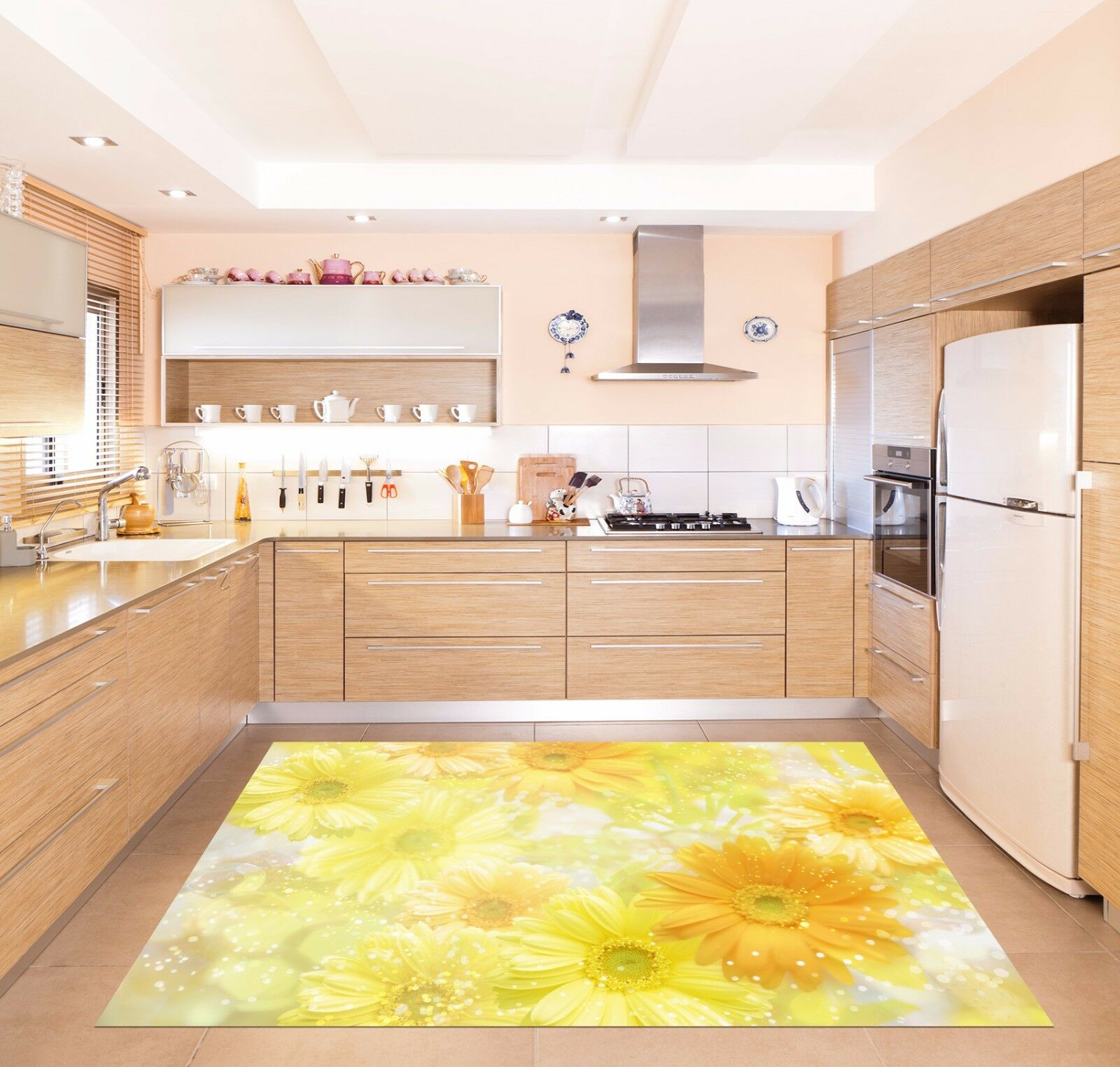 3D Shiny flower66 Kitchen Mat Floor Murals Wall Print Wall Deco AJ WALLPAPER UK