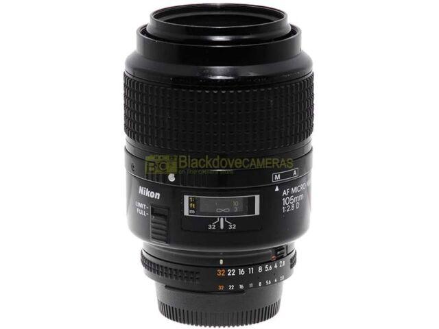 Nikon AF-D Micro Nikkor 105mm. f2,8. Garanzia 12 mesi. 105/2,8 macro 1:1.