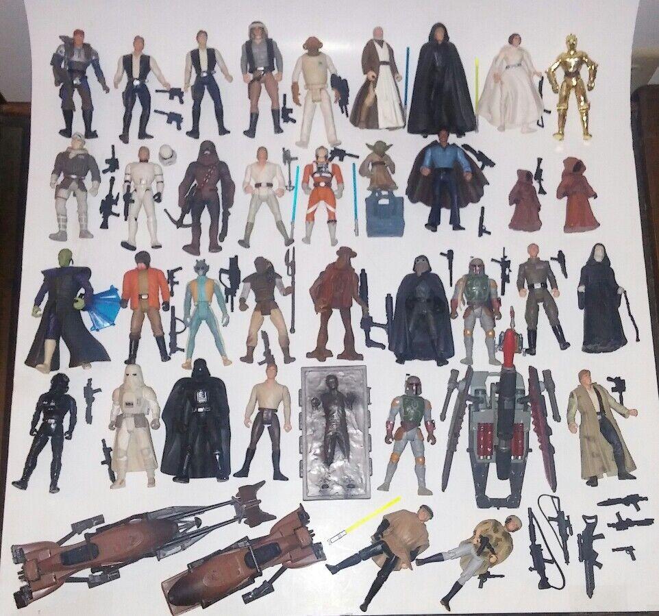 Star Wars Hasbro 3.75 Figure/Vehicle Lot POTF 90's 35+ figure lot