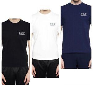 Brand-New-Mens-039-Emporio-Armani-EA7-Small-Logo-Classic-T-Shirt-3ZPT52-PJ03Z