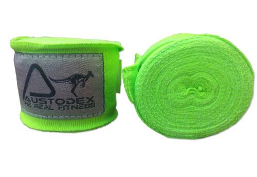Austodex 4m boxing cotton Bandages pair Hand Wraps Guards MMA UFC Wrist straps
