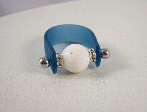 Edelstein Ring Wechselring Bandring Wechselschmuck Geschenk Damen koralle weiss