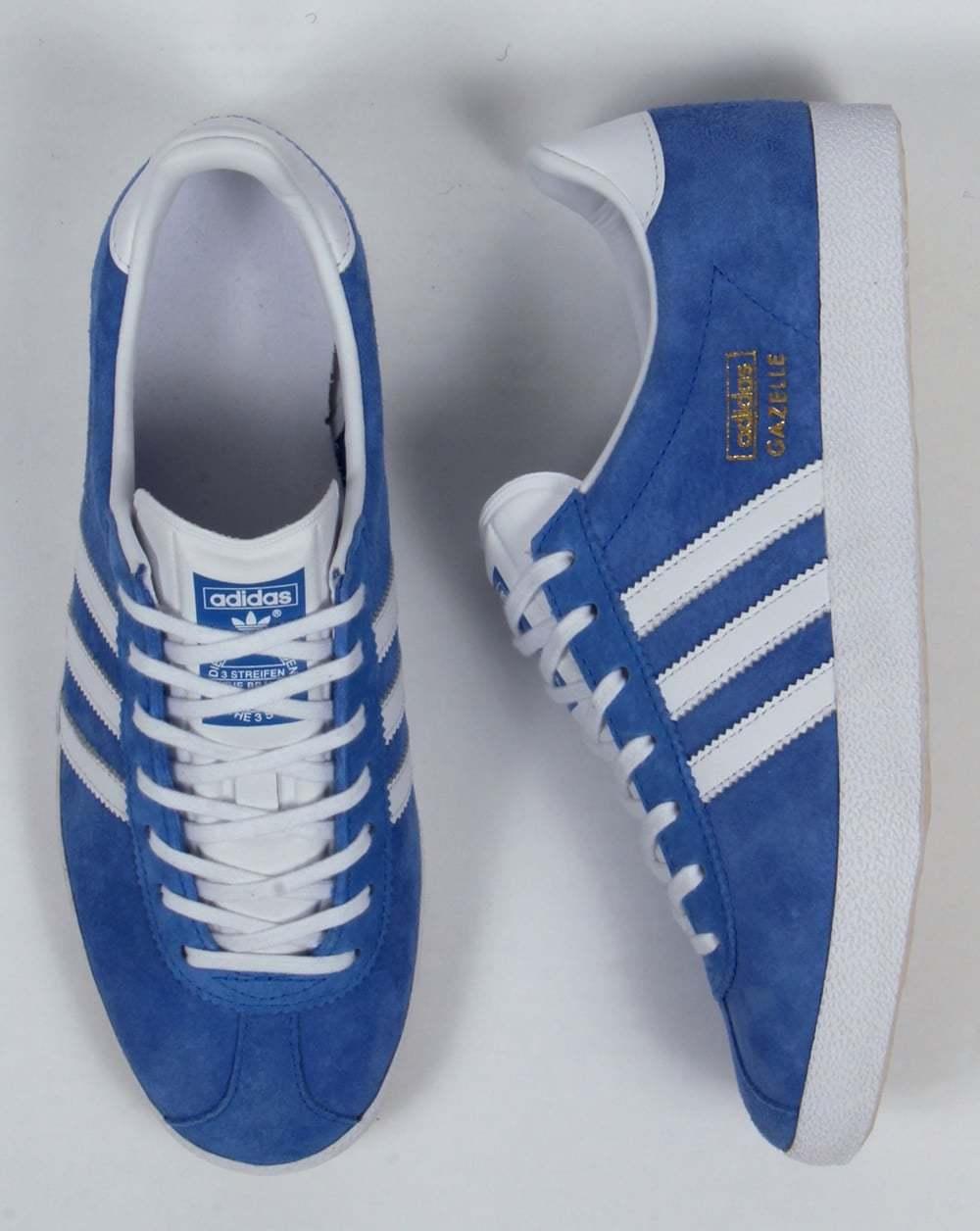 Adidas Originales OG Gazelle OG Originales Vintage Real Azul Blanco Nuevo Y En Caja c0fb5e