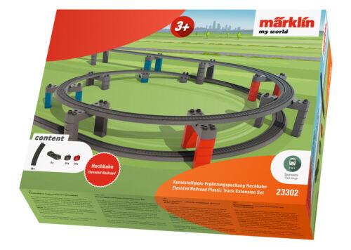 Märklin 23302 BINARIO IN PLASTICA-CONFEZIONE complemento altamente ferroviario Merce Nuova