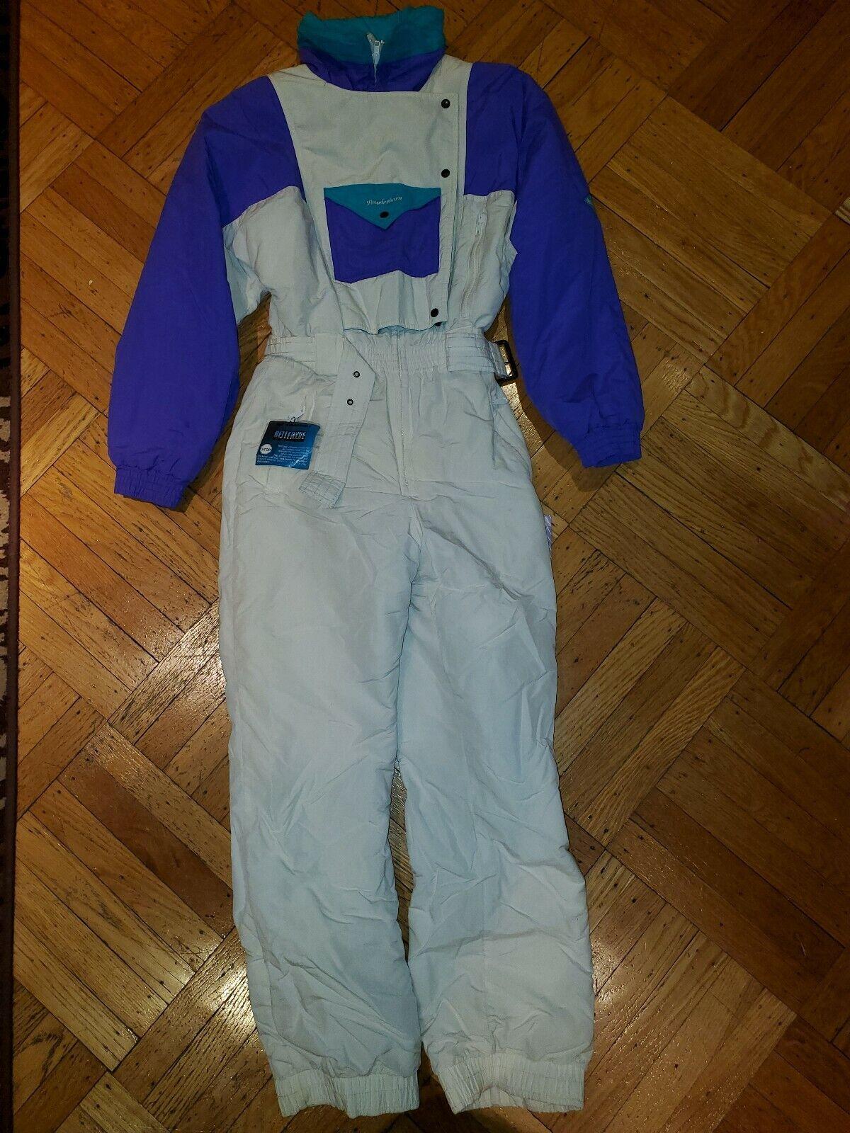 Powderhorn damen One Piece Ski Suit Snowsuit Größe 10 M Weiß Ski Suit