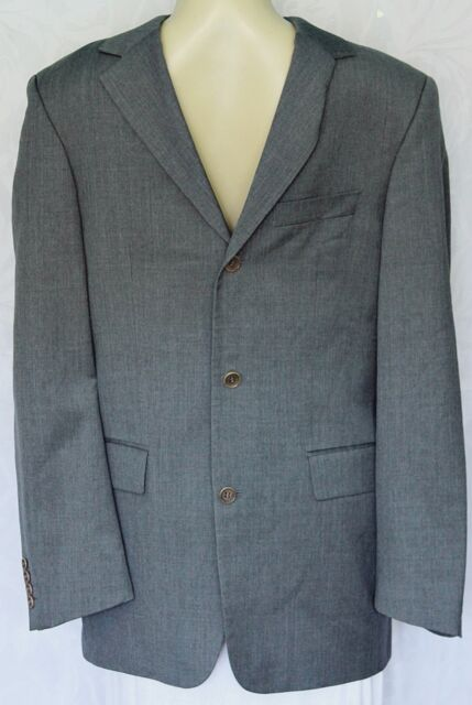 0ece58b87 Men Hugo Boss Angelico Parma Super 100 Sport Coat Suit Gray 3 Button Wool  Blazer for sale online | eBay