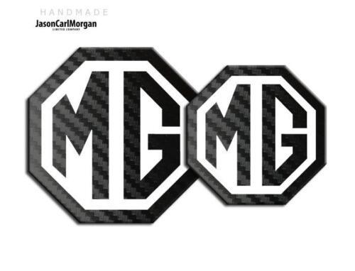 Mg TF 2009 /> nueva insignia Insertos delanteras y traseras de carbono insignia blanca 70 mm 90 mm Negro