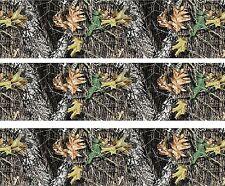 Woodland Camo ~ Edible Cake Image Topper ~ 1/4 Sheet Designer Strips  - D5445