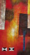 coloré abstract grand long huile peinture toile contemporain moderne original