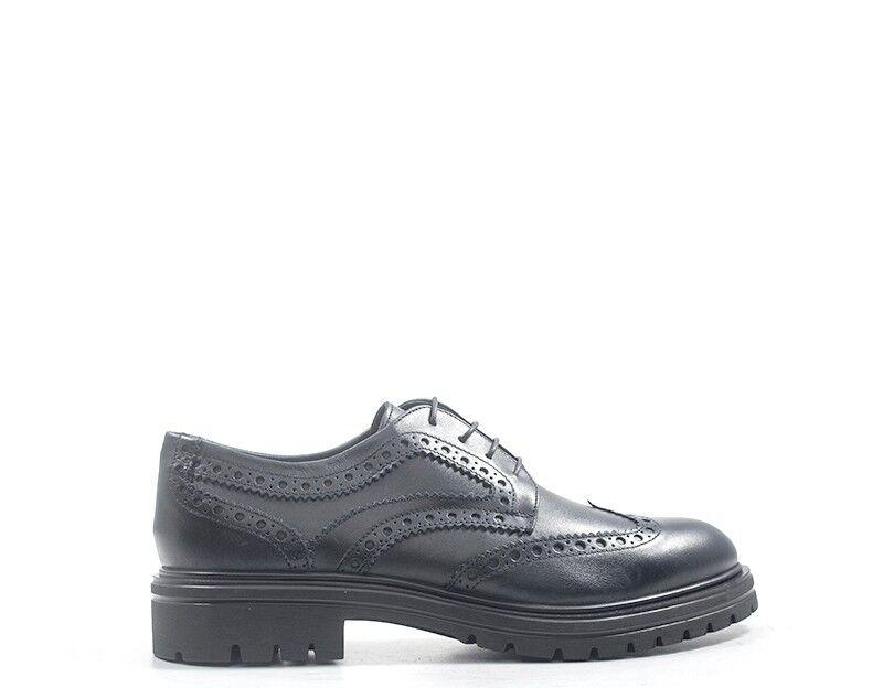Zapatos Stonefly hombre negro brogue, natural de cuero 210171-131s
