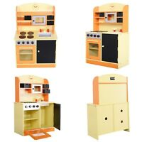 Toddler Wooden Playset Wood Kitchen Toy Kids Cooking Pretend Play Set