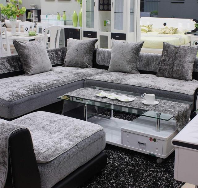 3 Solem Modern Velvet Chaise Sofa Cover