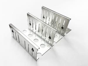 Sparset Kiesfangleisten höhenverstellbar Al99,5 80-120mm inkl Eckverbinder