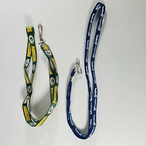 Sports Lanyards Milwaukee Brewers & Green Bay Packers Wisconsin Teams MLB NFL