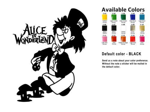 Alice in Wonderland Vinyl Decal Sticker Car Window Wall Cheshire Cat USA Seller