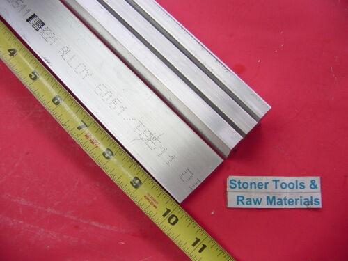"4 Pieces 1//2/"" X 1-1//2/"" ALUMINUM 6061 FLAT BAR 10/"" long .50/"" T6511 New Mill Stock"