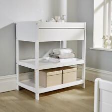Hampton White Pine Baby Changing Table Nursery Wooden Dresser 1 Drawer 2 Shelves