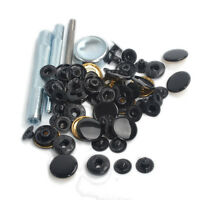 Tool Punch W/30 Set 17mm Black Metal Snap Fasteners Cloth Button Press Studs Kit