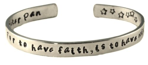 Hand Stamped Disney Peter Pan Bracelet For to have faith is to have wings